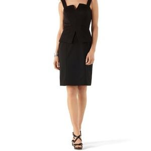 WHITE HOUSE BLACK MARKET peplum black dress